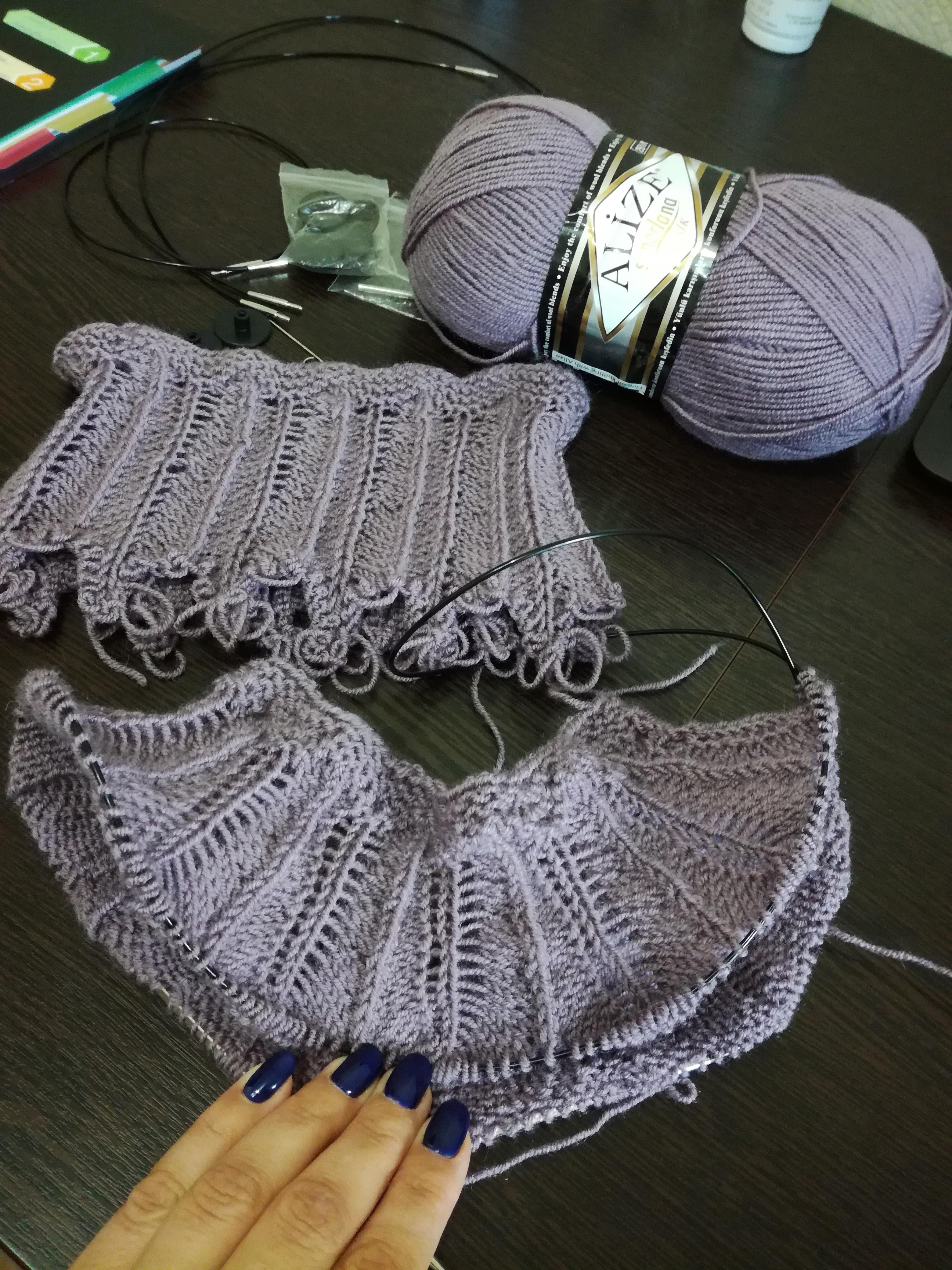 Мое вязаное платье для девочки